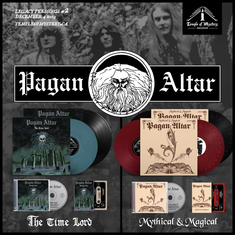 PAGAN ALTAR reissues of Mythical & Magical and The Time Lord